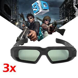 3x Blue-Tooth Aktive Shutter 3D Brille für Epson 3LCD Beamer TW5200, Sony 3D Tvs