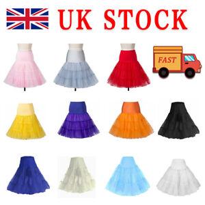 Tutu Dress 50s Swing Vintage Fancy Underskirt Petticoat Rockabilly Net Skirt K1