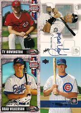 4 Autograph Baseball Cards Wilkerson/ Harvey/ Howington/ Valdez Authentic Autos