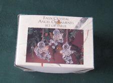 Vintage Faux Crystal Angel Ornaments Box of 3 Vintage Angel Cherub Ornaments