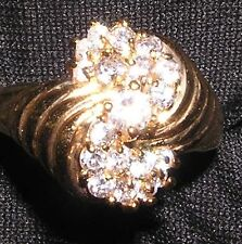 RING GP R56 Size 6 Unusual Swirls & A ZILLION CRYSTALS