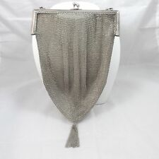 ANTIQUE VICTORIAN STERLING SILVER MESH EVENING HAND BAG PURSE 121.4 Gr.