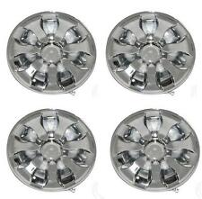 (4) Universal Golf Cart Chrome Hub Cap Wheel Cover 8""