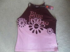 1 x BLUE WAHOO PINK PURPLE RACER BACK STRETCH STRAPPY CAMI SUN TOP SIZE 12 BN!