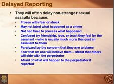 184 page ARMY CID SEXUAL ASSAULT PowerPoint Presentation on CD