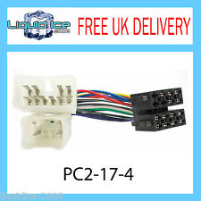 Pc2-17-4 TOYOTA YARIS ISO Stereo head unit Adattatore CABLAGGIO WIRING LOOM PIOMBO