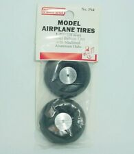"Perfect Parts Model Airplane Rubber Balloon Tires Aluminum Wheels 1-1/2"" Dia."