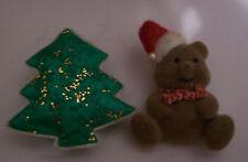 ⭐ON SALE!⭐ CUTEST CHRISTMAS BEAR & TREE BROOCH / PIN