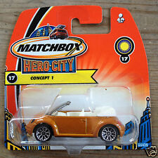 Matchbox Volkswagen New Beetle Convertible   -  gold