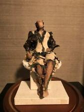 "TERRACOTTA ART SCULPTURE ""QUIET DREAMS"" BY  ARTIST SYLVIE ALBERGHS [ONE OFA KIND"