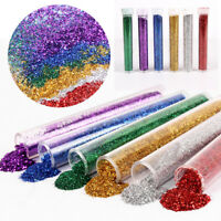 6 Tube Glitter Tubes Assorted Colours Art Crafts School Kids Scrapbooking Kit