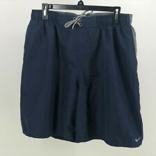 Nike Men's Swim Trunks Suit Size XL Blue and Grey