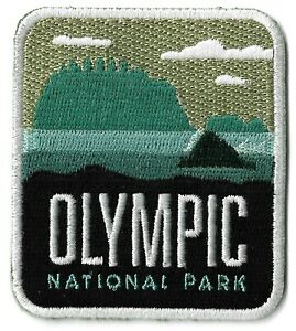 Olympic National Park Patch Embroidered Iron or Sew On Badge / Patches