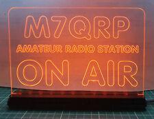 12 V vrai Orange DEL Amateur Ham indicatif Radio Shack signe sur Air