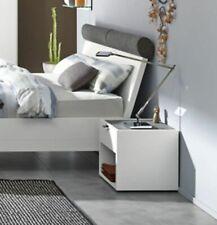 Hülsta Doppelbett FENA weiß mit 2 Nachtkonsolen Bett 180 x 200 cm NEU