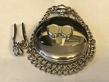 Sun Glasses TG174  Pewter on a Silver Pocket Watch Quartz fob