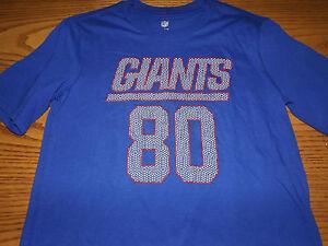 VICTOR CRUZ #80 NEW YORK GIANTS NFL YOUTH TEAM APPAREL SHORT SLEEVE SHIRT L-XL
