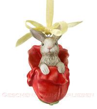 Goebel Jahresornament 2014 Hase in Tulpe Jahreshase