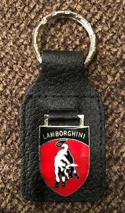 Original 1980's Lamborghini Genuine Leather Key Chain #2 - New Old Stock