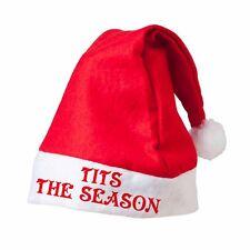 T*TS THE SEASON Santa Hat Custom Printed Father Christmas Novelty Xmas Hat Tis
