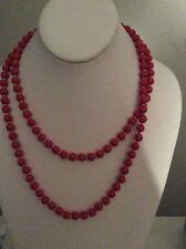 $45 Anne Klein Long Red Beaded Necklace KKK 2