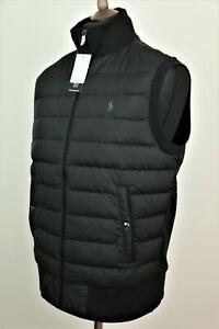 Polo Ralph Lauren Mens Black Gilet Bodywarmer Waistcoat size M