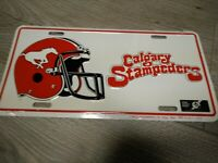 CALGARY STAMPEDERS LICENSE PLATE COVER DECORATIVE NOVELTY SIGN