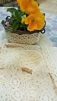 3m Vintage style Cotton crochet lace trim ribbon CREAM Ribbon Sewing Crafts new