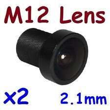 Sunvision CCTV 2x 2.1mm F1.8 Monofocal 150⁰ Wide Angle MTV M12 Lens Board Lenses