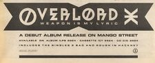 28/1/89Pgn07 Advert: Overlord 'weapon Is My Lyric' Debut Album On Island 4x11