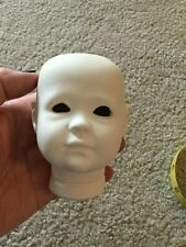 Doll Head to Make Deana or Dean Porcelain New Full Head Made from Sterling Mold