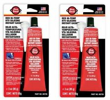 2x PRO SEAL RED HI-TEMP RTV Silicone Instant Gasket 80726 PROSEAL N80726 USA