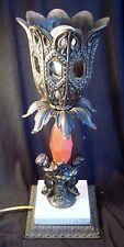 Vintage Brass Gothic Cherub Table Lamp