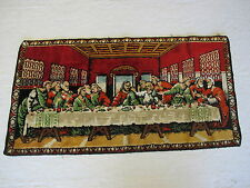 """Old Vintage The Last Supper Tapestry Rug 38"""" by 20"""" Made in France"""