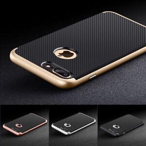 Hülle Für iPhone 7 6s Plus Hybrid Carbon TPU Handy Schutz Case Schutz Glas