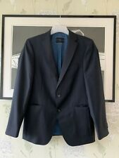 """Mens Navy Pinstripe Wool Suit Jacket From TOMMY HILFILGER - Size 48 (Approx 40"""")"""