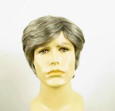 Perruque homme 100% cheveux naturel poivre et sel ref BERNARD 44