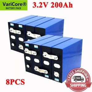 Lot 3.2v 200ah Lifepo4 Battery Pack Iron Phosphate Motorcycle Electric Car Solar
