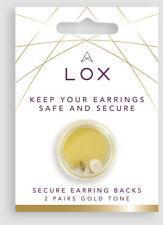 4 Lox Locking Earring Backs Butterfly Fittings Gold Tone Anti-Allergy Backs