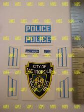 Corgi 260 [ Superman ] Metropolis Police Car Stickers - B2G1F
