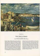 """1976 Vintage SALVADOR DALI """"LLANER BEACH IN CADAQUES"""" Color Art Print Lithograph"""