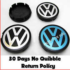 VW Volkswagen Alloy Wheel Center Caps x4 55 mm badges PASSAT POLO GOLF BORA LUPO