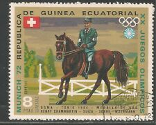 Equatorial Guinea VF USED 1972 - 8p Olympic Equestrian Events