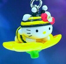 Hello Kitty X Chiba Boso Bee & Flower Swarovski Elements Crystals Japan Charm