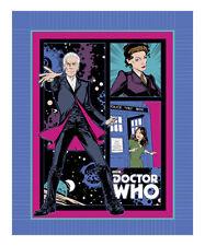 "Doctor Who 12th Doctor Clara Missy No Sew Fleece Blanket Kit Bbc 48"" x 60"""