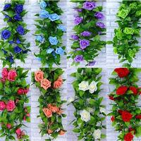 Artificial Fake Silk Flower Ivy Vine Wedding Hanging Garland Home Garden Decor