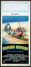 RIMINI RIMINI UN ANNO DOPO locandina poster Spiaggia Occhiali Sole Ray Ban AG99