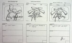 Hey Arnold! Signed AMBER HOLLINGER Production Copy Storyboard Page  Nickelodeon