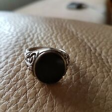 Ring Silberring Siegelring antik massiv 835 TOP ZUSTAND