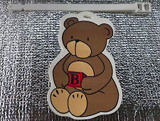 Child/Baby Bear Luggage Suitcase Bag ID Tag  with locking strap